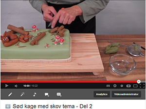 kageopskrifter på video